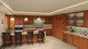 Mauka kitchen transitional rendering.