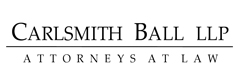 Carlsmith Ball LLP international law firm logo.
